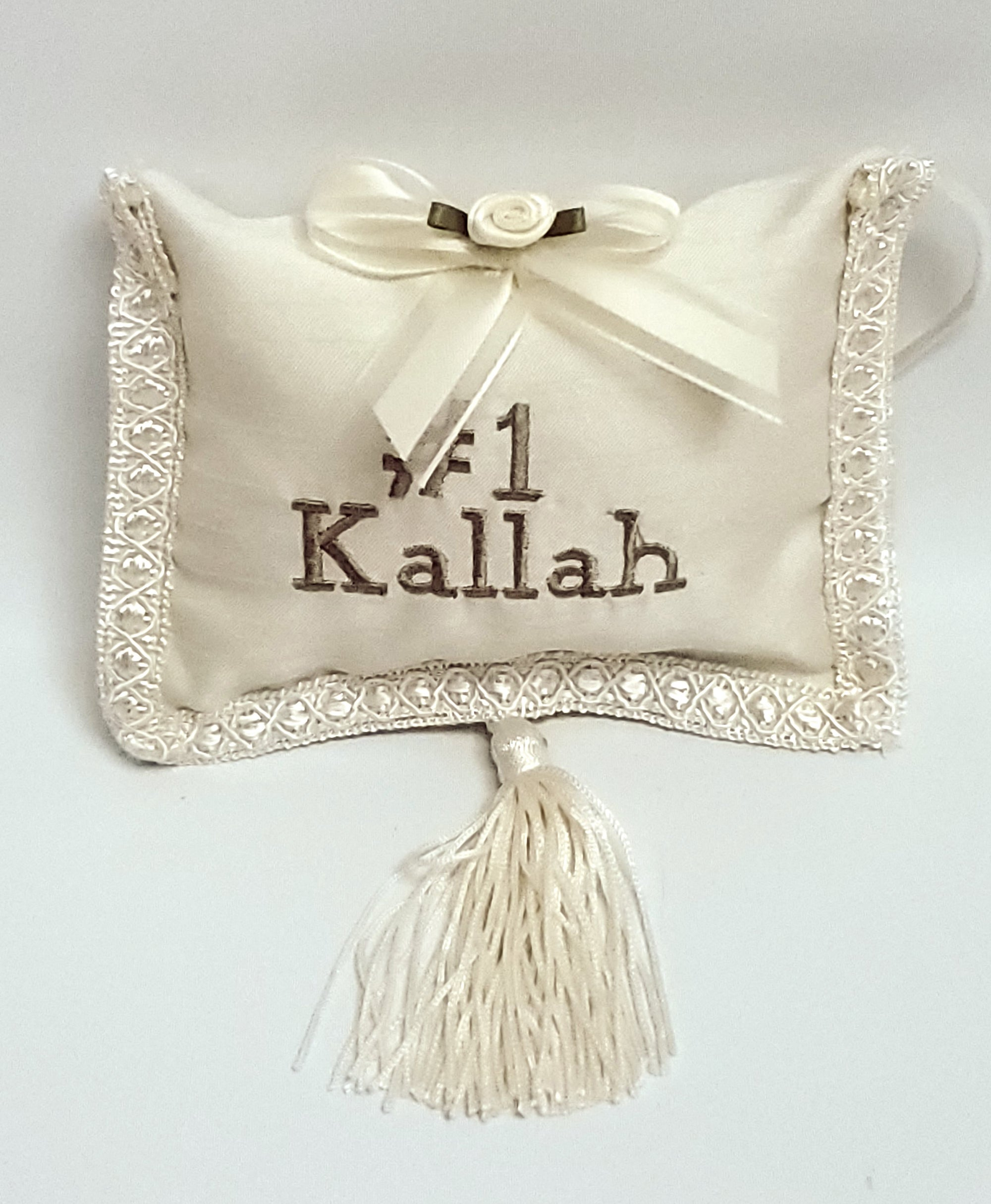 #1 Kallah Pillow withTassel