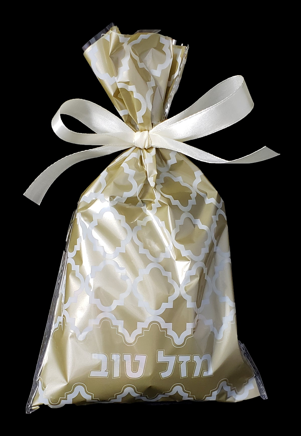 Mazel Bag Beige Cello Bag With Ribbon