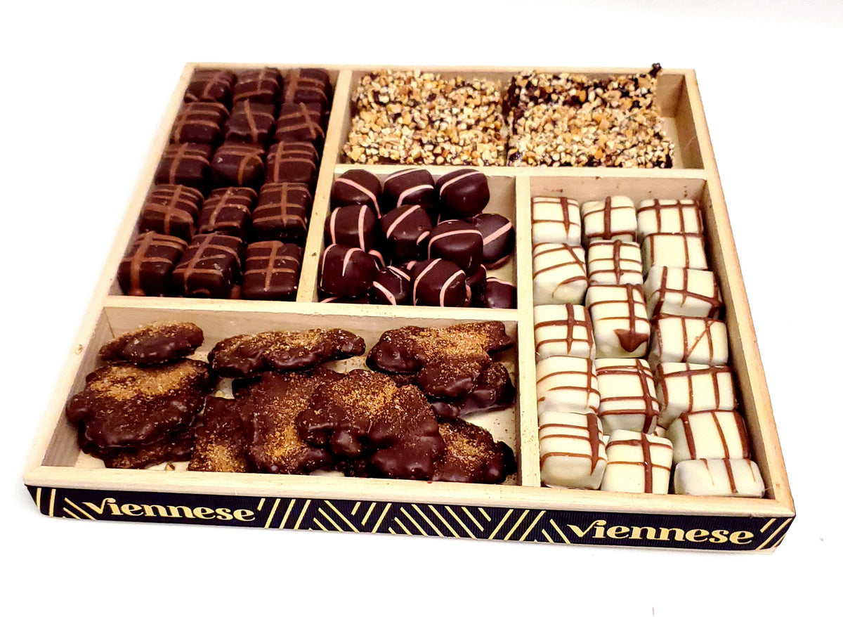 Chocolate Platter 5 sectional Large