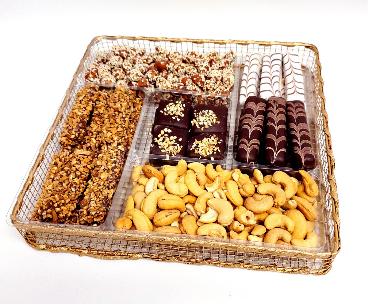 Chocolate Nut Platter 5 Sectional