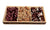 Chocolate Nut Gift Platter 3 Sectional Wood