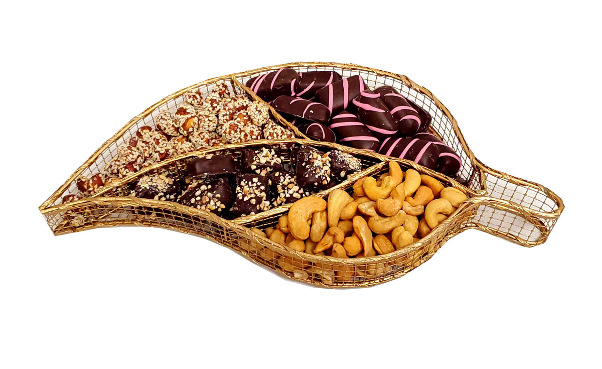Gold Leaf Nut Chocolate Platter