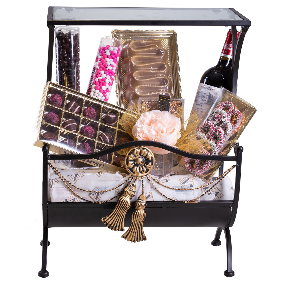 Purim Viennese Server Gift Basket Mishloach Manos