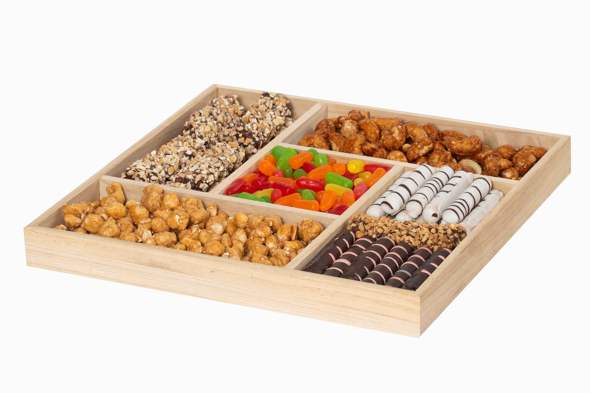 Mix Goodness Wood Platter 5 Sectional