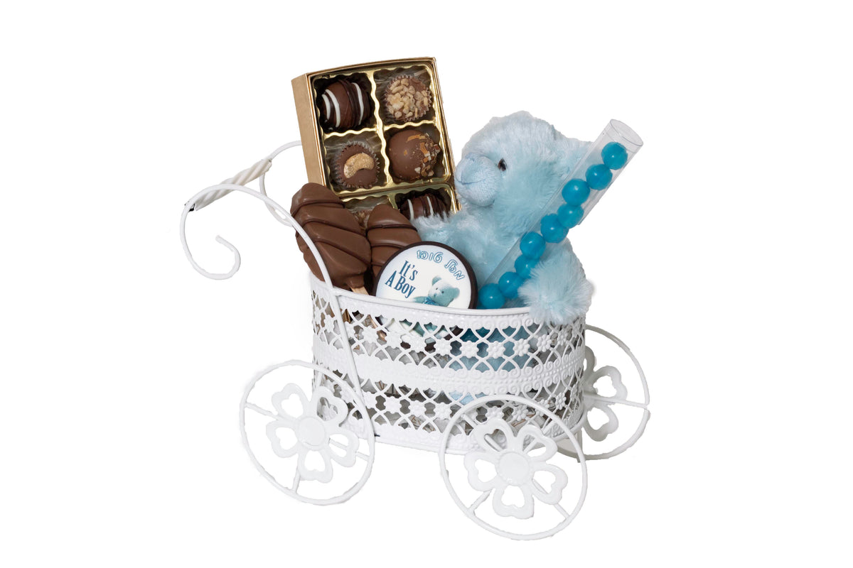 Its a Boy Gift Carriage Dairy Chocolate