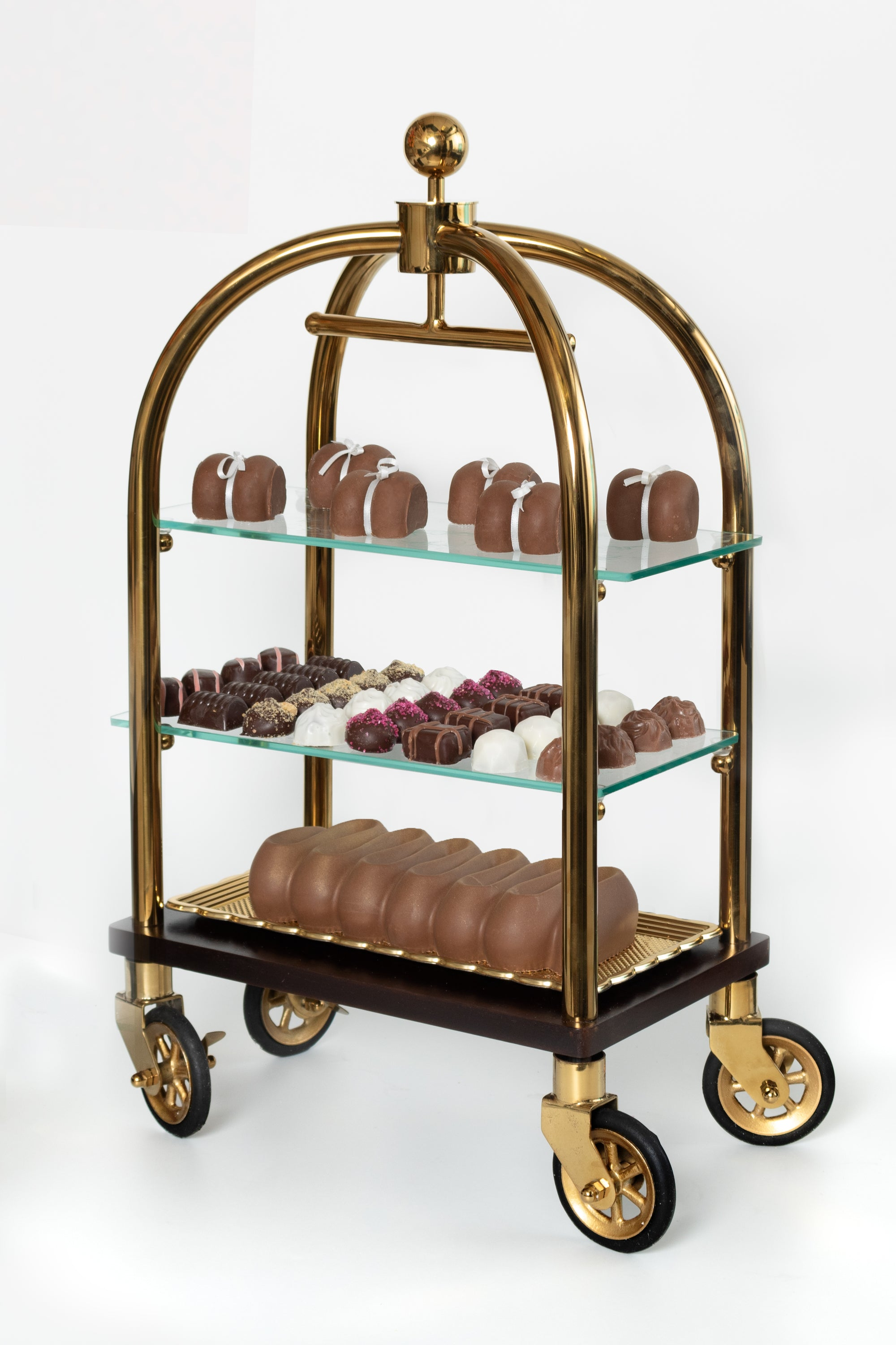 Deluxe Viennese Chocolate Hotel Luggage Cart Gift Set