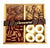 Wood Chocolate Gift Platter 4 Section