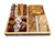 Mega Chocolate Wood 4 Sectional Platter