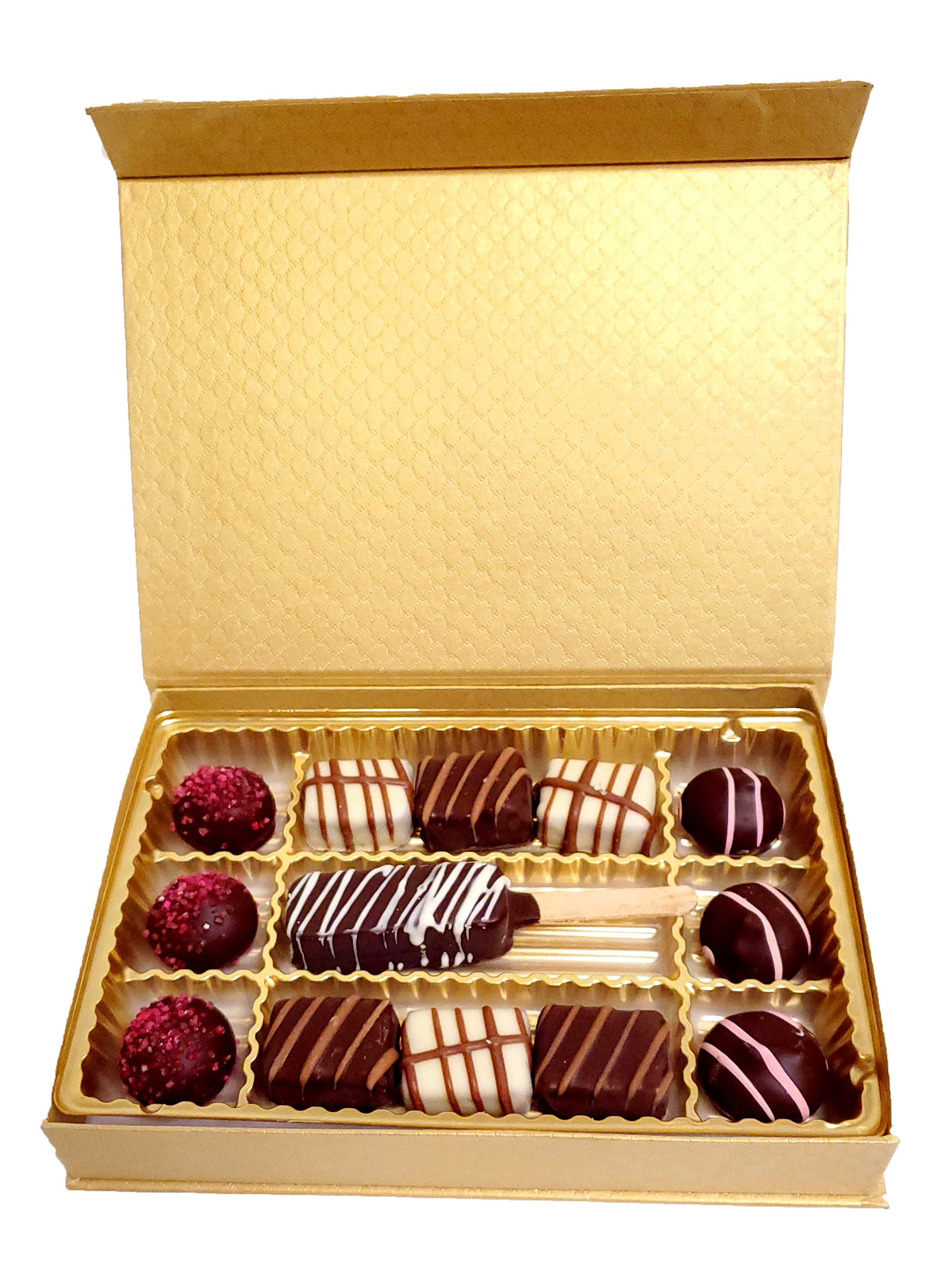 Magnetic Gold Chocolate Gift Box non Dairy