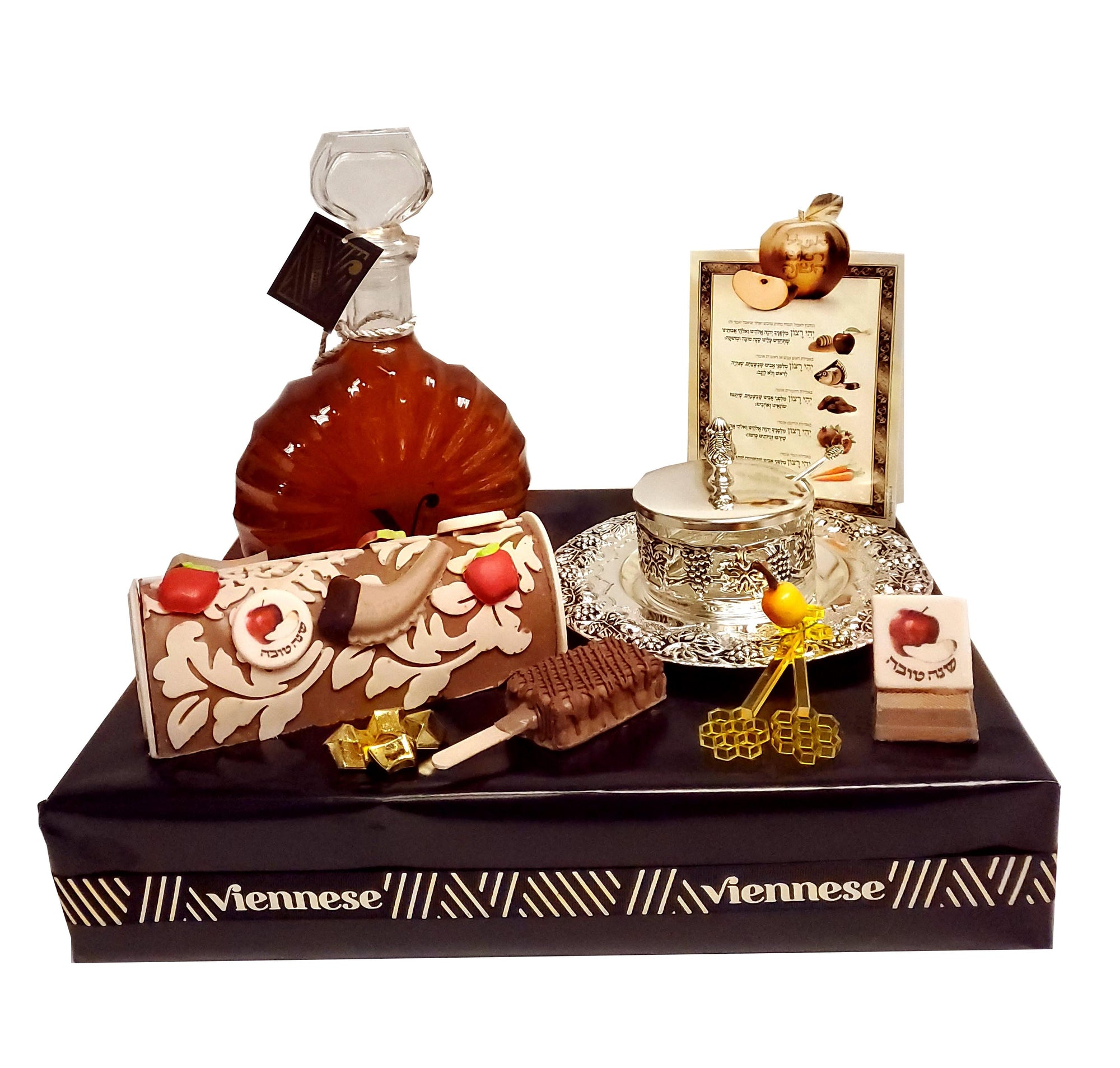 Deluxe Honey Chocolate Rosh Hashanah Arrangement With Honey Dish
