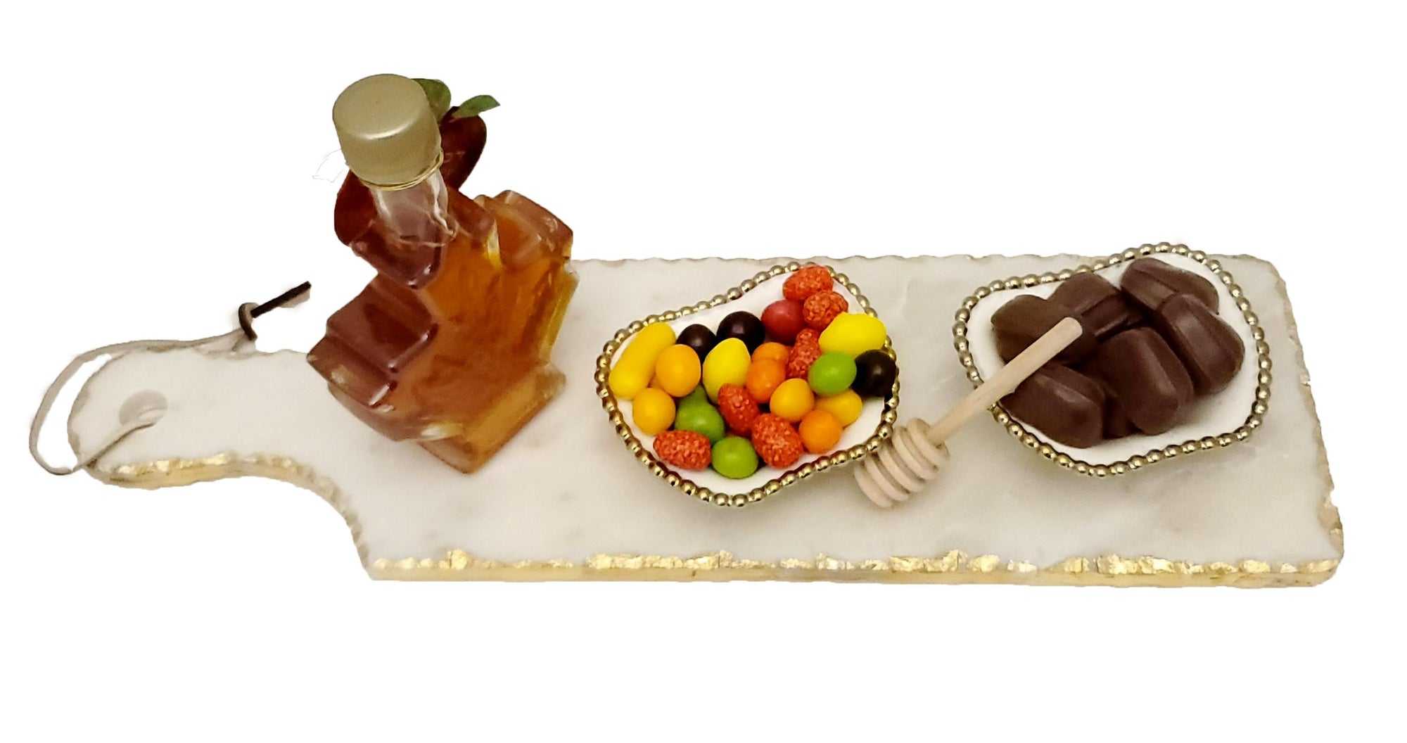Rosh Hashanah Marble Tray Maple Leaf honey Chocolate Gift