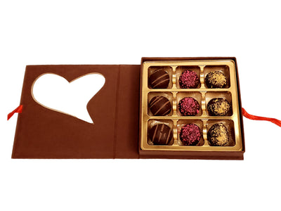 Heart Truffle Gift Box Red