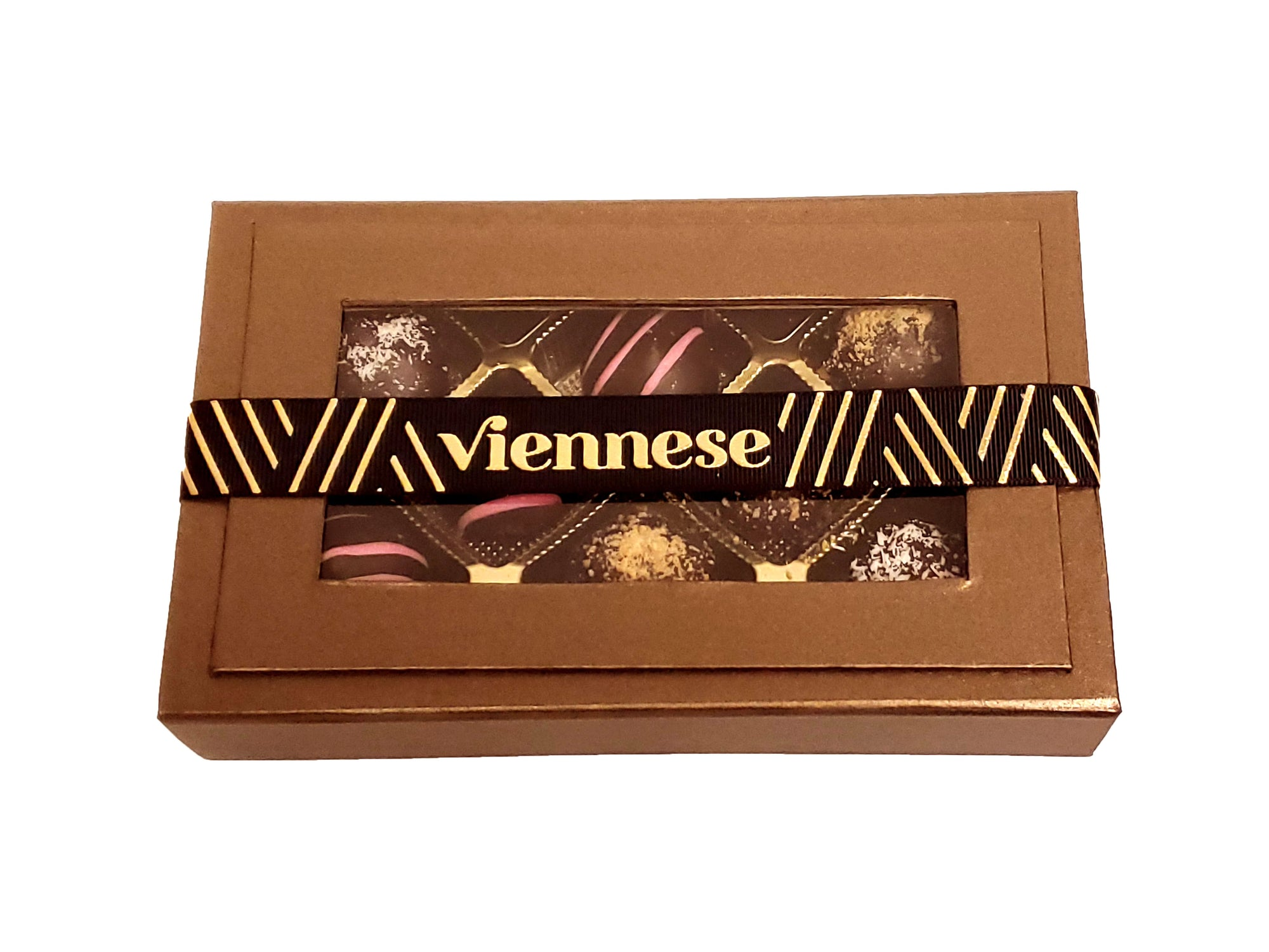 Chocolate Truffle Gift Box Bronze Magnetic