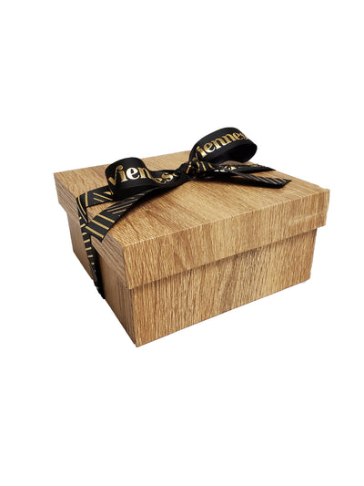Wood Look 2 Tier Chocolate Gift Box