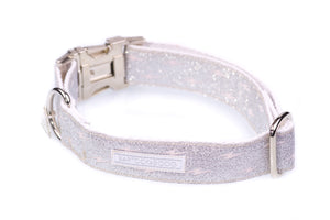 Silver Sparkly Luxury Quick Release Dog Collar