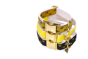 Metallic Gold Quick Release Dog Collars