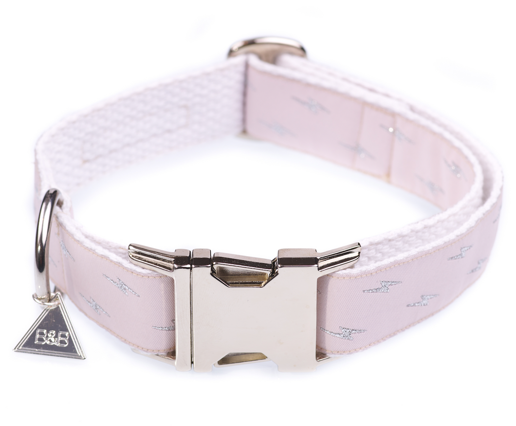 Metallic Pink Quick Release Dog Collar
