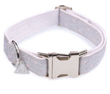 Load image into Gallery viewer, Silver Sparkly Luxury Quick Release Dog Collar