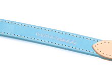 Load image into Gallery viewer, Luxury Blue Leather Dog Lead