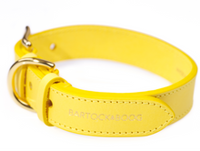 Load image into Gallery viewer, Luxury Yellow Leather Dog Collar