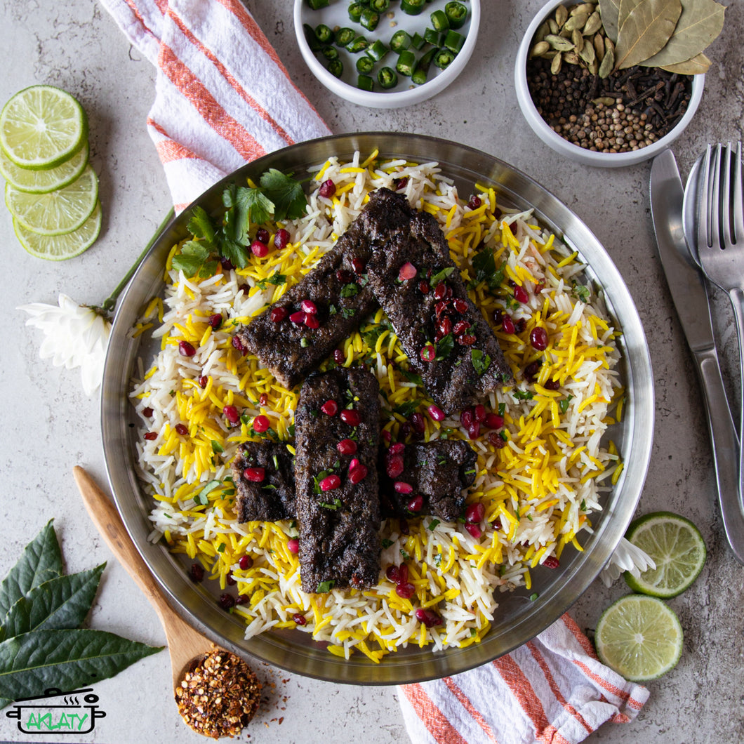 Beef Kebab with Saffron Rice