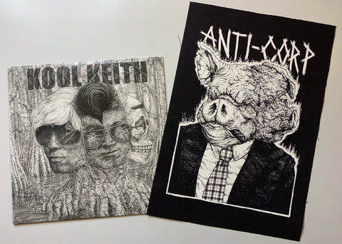 "BUNDLE: Kool Keith - Complicated Trip 12"" / Anti-Corp Pig Backpatch (LP/Backpatch)"
