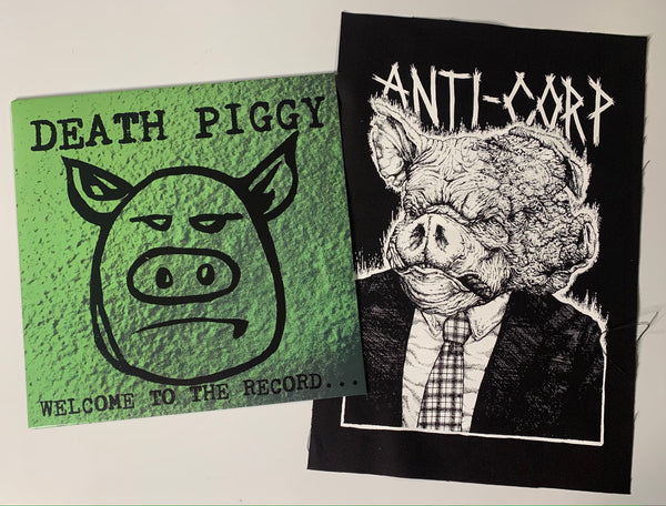 BUNDLE: Death Piggy LP/Anti-Corp Pig Backpatch (vinyl/backpatch)