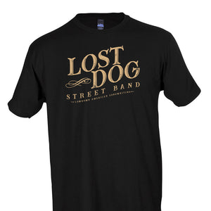 SHIRT: Lost Dog Street Band - Black Logo