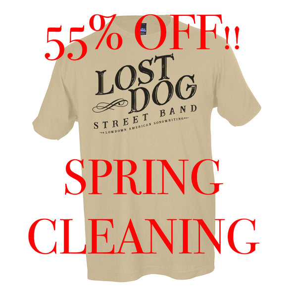 SHIRT: Lost Dog Street Band - White Logo