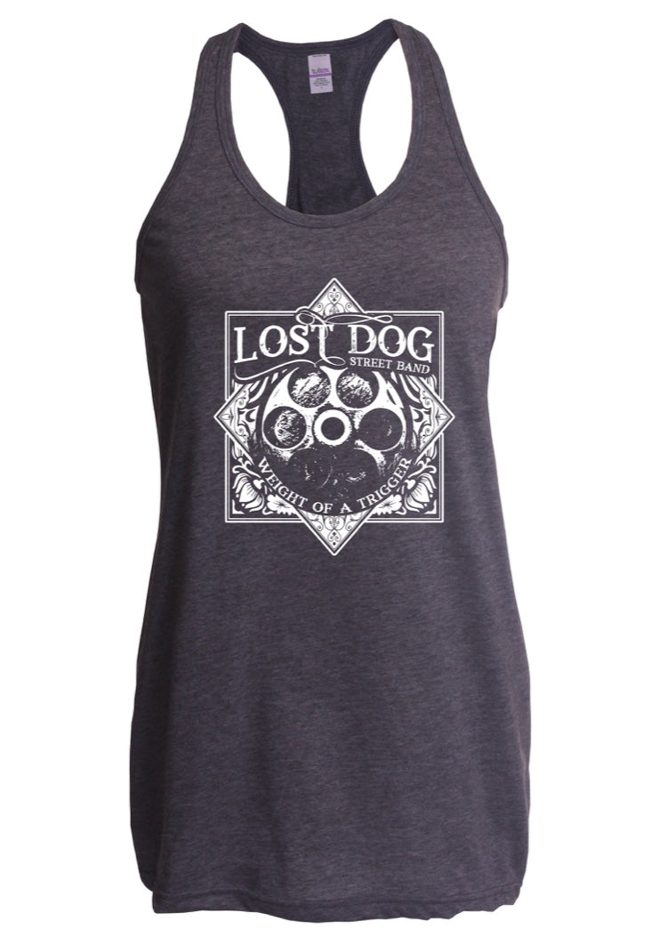 SHIRT: Lost Dog Street Band - Ladies Weight Of A Trigger Tank Top