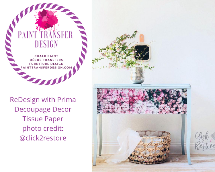 4 easy steps to apply ReDesign with Prima Decoupage Paper