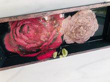 Load image into Gallery viewer, Decorative Floral Serving Tray - Black Sands