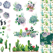 Cacti & Succulents - Decor Transfer - Belles & Whistles® by Dixie Belle