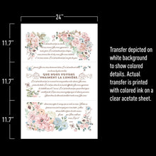 Load image into Gallery viewer, Pure Light FLoral- ReDesign with Prima Decor Transfer®