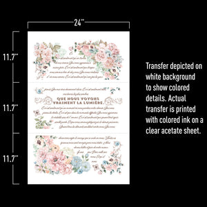 Pure Light FLoral- ReDesign with Prima Decor Transfer®