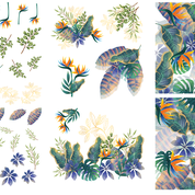 Load image into Gallery viewer, Tropical Leaves - Decor Transfer - Belles & Whistles® by Dixie Belle