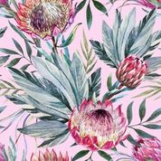 Load image into Gallery viewer, Tropical on Pink - Rice Découpage Paper - Belles & Whistles® by Dixie Belle