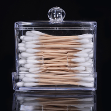 Load image into Gallery viewer, Clear Q-tip Cotton Swab Organizer