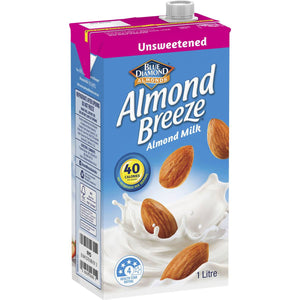 Almond Milk Unsweetened 1L (Almond Breeze)