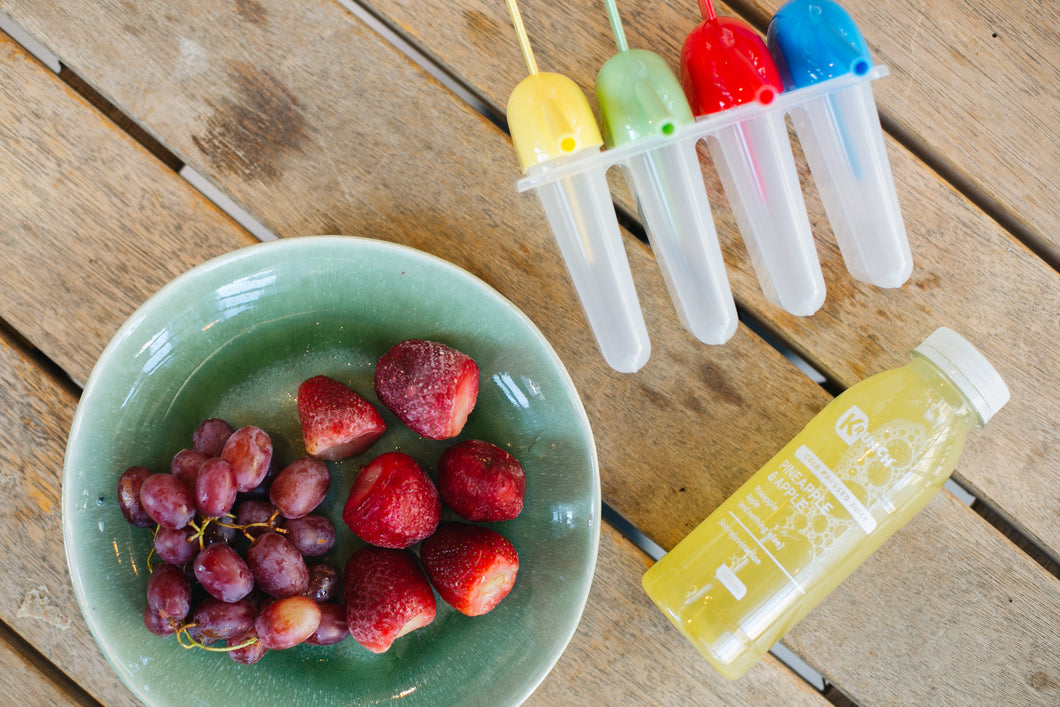 DIY Healthy Fruit Popsicles