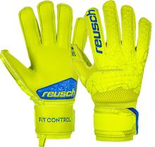 REUSCH FIT CONTROL SG EXTRA FINGER SUPPORT JUNIOR GOALKEEPER GLOVES