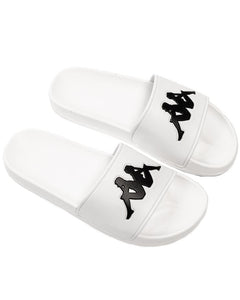 KAPPA AUTHENTIC ADAM 2 SLIDES - WHITE/BLACK