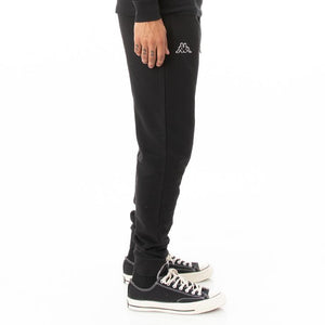 KAPPA LOGO FLEECE ZANOK SWEATPANTS- BLACK