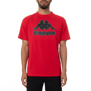 Kappa Men's Authentic Logo Bant T-Shirt - RED