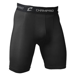 CHAMPRO COMPRESSION SHORTS-BLACK