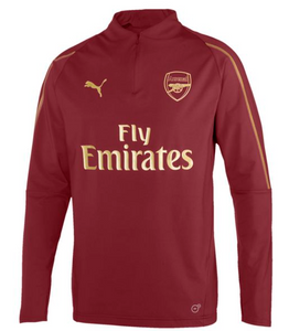 PUMA Arsenal FC 1/4 Zip TOP - POMEGRANATE