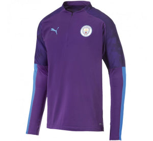 PUMA MANCHESTER CITY 1/4 ZIP TOP- PURPLE/LIGHT BLUE
