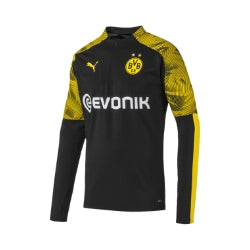PUMA BORUSSIA DORTMUND 1/4 TRAINING TOP BLACK/CYBER YELLOW