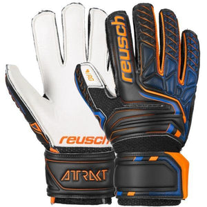 Reusch Youth Attrakt RG Open Cuff Finger Support - Blck/Shock. Orange/Deep B
