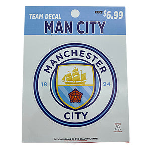 TEAM AUTHENTICS Manchester City TEAM CREST DECAL Nvsoccer.com The coliseum